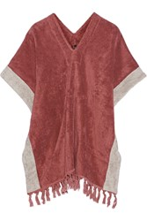 Lisa Marie Fernandez Cotton Terry Poncho Red