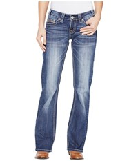 Rock And Roll Cowgirl Riding Bootcut In Medium Wash W7 1393 Medium Wash Women's Jeans Navy