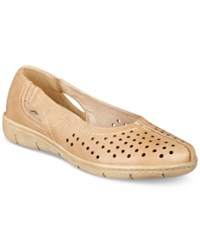 Easy Street Shoes Tobago Flats Women's Stone