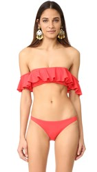 Milly Sirolo Ruffle Bandeau Top Flame