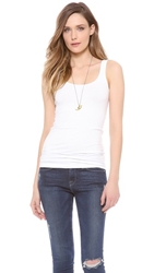 James Perse Brushed Jersey Long Tank White