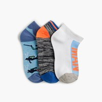 J.Crew Boys' Scuba Man Ankle Socks Three Pack