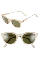 Electric Eyewear 'La Txoko' 49Mm Sunglasses Ivory Horn Grey