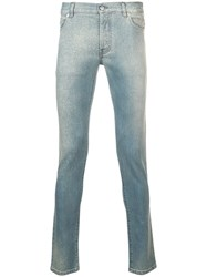Balmain Washed Out Jeans Blue