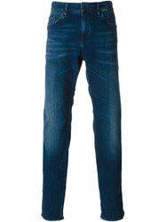 Boss Hugo Boss Stone Washed Straight Leg Jeans Blue