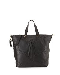 Isabella Fiore Western Front Whipstitched Tote Bag Black