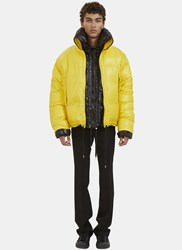 Raf Simons Double Layered Down Quilted Jacket Yellow