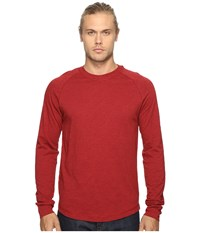 Original Penguin New Bada Long Sleeve Tee Red Dahlia Men's T Shirt