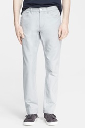 Theory 'Haydin' Cotton And Linen Five Pocket Pants Beige