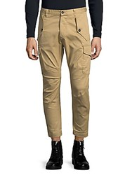 Viktor And Rolf Cropped Cargo Pants Beige