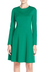 Women's Eliza J Long Sleeve Ponte Fit And Flare Dress