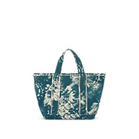 Barneys New York Fringed Cotton Canvas Tote Bag Blue