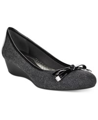 Karen Scott Pippa Casual Wedge Pumps Only At Macy's Women's Shoes Grey