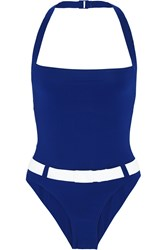 Orlebar Brown Portsea Belted Swimsuit Blue