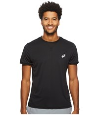 Asics Court Short Sleeve Top Performance Black Workout