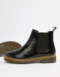 Office Ali Black Leather Chelsea Boots Black Patent