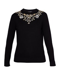 Ted Baker Eliyza Embellished Cashmere Blend Jumper Black