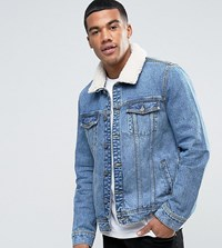 Brooklyn Supply Co. Co Ice Blue Borg Jacket Bl1 Blue 1
