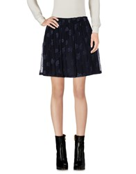 Girl By Band Of Outsiders Mini Skirts Dark Blue