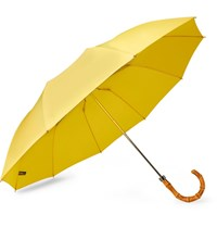 London Undercover Bamboo Handle Umbrella Yellow