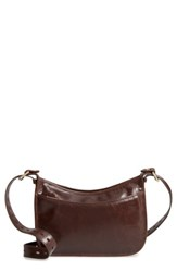 Hobo Chase Calfskin Leather Crossbody Bag Brown Espresso