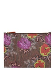 Etro Paisley Printed Coated Canvas Pouch