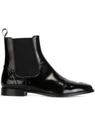 Charlotte Olympia 'Cats' Chelsea Boots Black