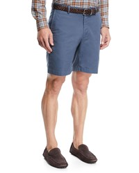 Peter Millar Crown Soft Touch Twill Shorts Navy