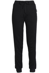 Just Cavalli Embellished French Cotton Blend Terry Pajama Pants Black