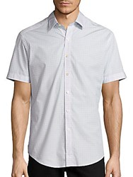 Robert Graham Stars Short Sleeve Cotton Shirt White