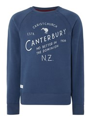 Canterbury Of New Zealand Christchurch Plain Crew Neck Pull Over Overhead Denim
