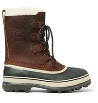 Sorel Caribou Waterproof Full Grain Leather And Rubber Snow Boots Brown