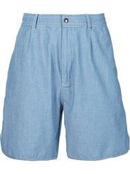 Maison Kitsune Lightweight Denim Shorts Blue