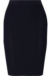 Jonathan Simkhai Textured Knit Pencil Skirt Blue