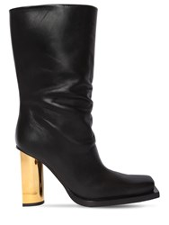 Proenza Schouler 95Mm Leather Ankle Boots Black