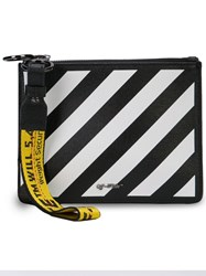 Off White Diag Double Clutch Black