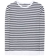 Alexander Wang Striped Jersey Top White