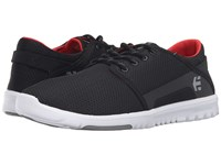 Etnies Scout Black Grey Red Men's Skate Shoes Gray