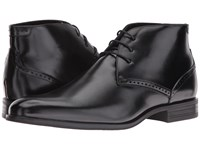 Stacy Adams Strickland Plain Toe Lace Chukka Boot Black Men's Lace Up Boots