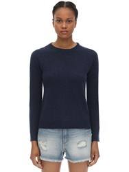 Zadig And Voltaire Crewneck Cashmere Knit Sweater Blue
