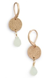 Women's Cara Crystal And Coin Drop Earrings Green Gold
