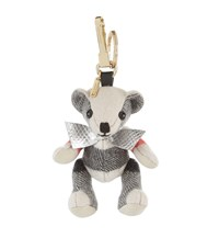 Burberry Shoes And Accessories Thomas Check Bear Charm Unisex Grey