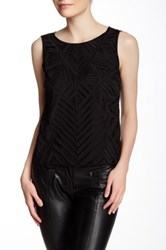 Laundry By Shelli Segal Crocheted Popover Tank Black