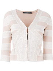 Alexander Mcqueen Victorian Lace Knit Cardigan Pink And Purple