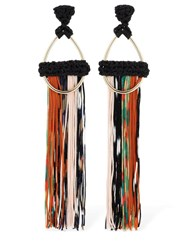 Missoni Fringed Earrings Multicolor