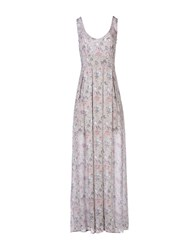 Maison Espin Long Dresses Grey