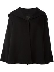 Agnona Hooded Cape Black