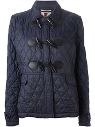 Burberry Brit Quilted Duffle Coat Blue