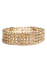 Women's Tasha Jeweled Stretch Bracelet Gold Smoky Topaz