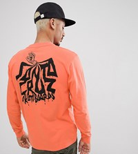 Santa Cruz Spill Long Sleeve T Shirt In Orange Exclusive To Asos
